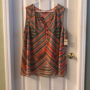 Colorful cold water creek tunic
